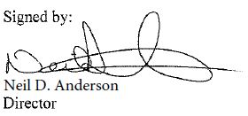 signature of Neil Anderson, Director