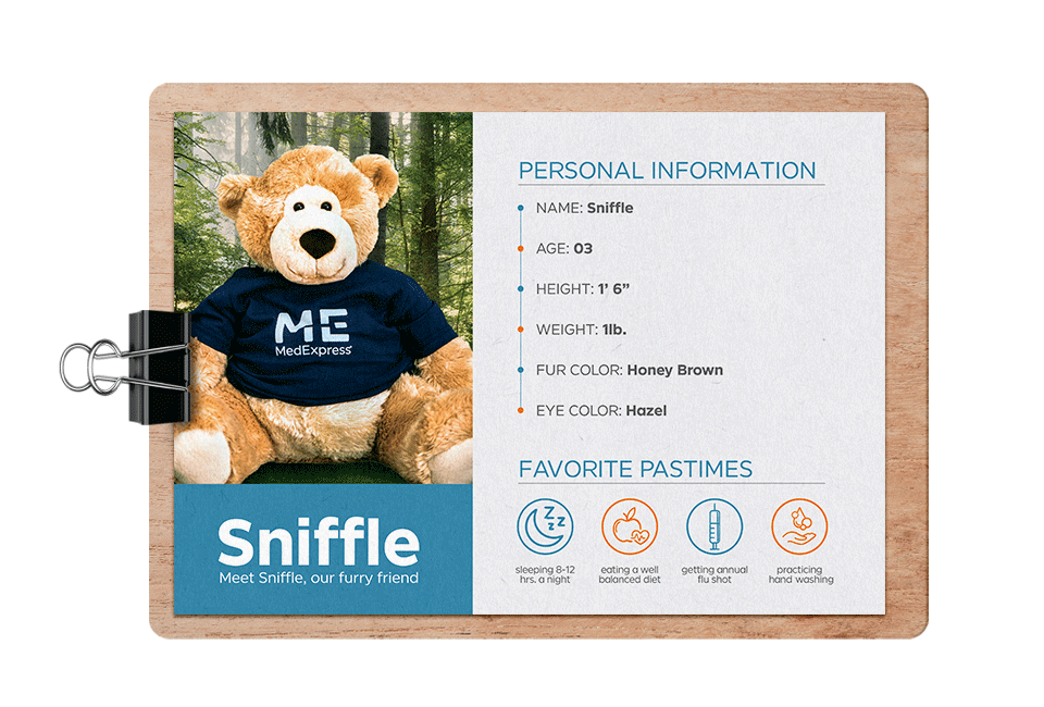 Meet Sniffle, our furry friend.