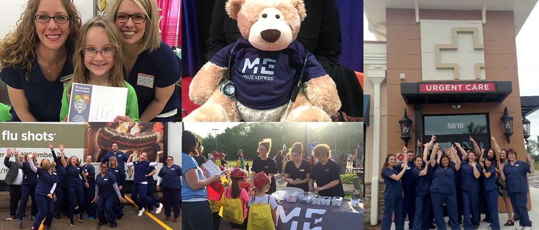 MedExpress team members in the community