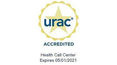 URAC accreditation seal Health Care Call Center