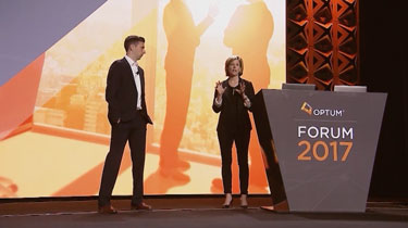 Sarah London and Matt Penziner at Optum Forum