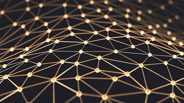 Abstract image of dots connected by lines