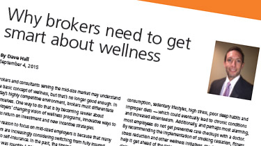 Why brokers need to get smart about wellness