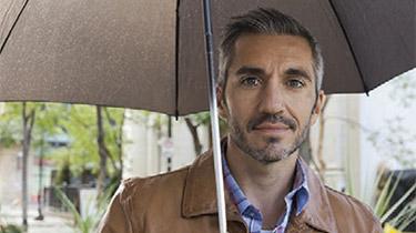 man holding a umbrella