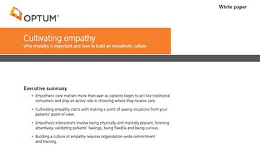 Thumbnail image of the iRound white paper, 'Cultivating empathy'