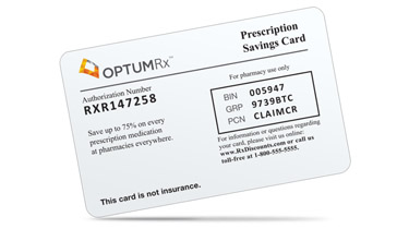 OptumRx member prescription savings card