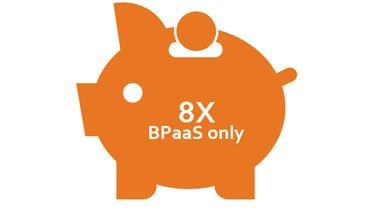 8 times BPaas only piggy bank