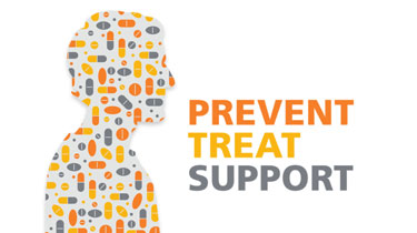 Prevent, treat, support