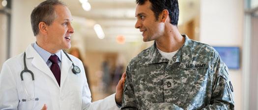 health care professional having a dissuasion