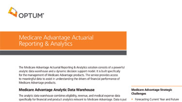 Medicare Advantage Reporting and Analytics preview