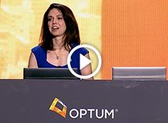 Stephanie Gardner speaking from a podium