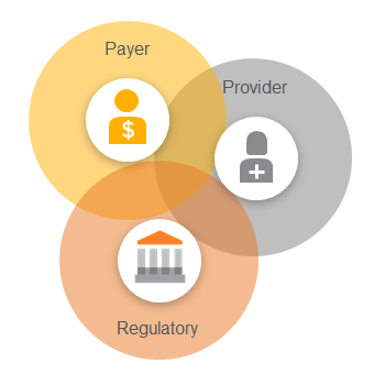 Payer, provider and Regulatory venn diagram